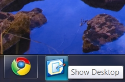 Show Desktop Icon Taskbar Windows 7