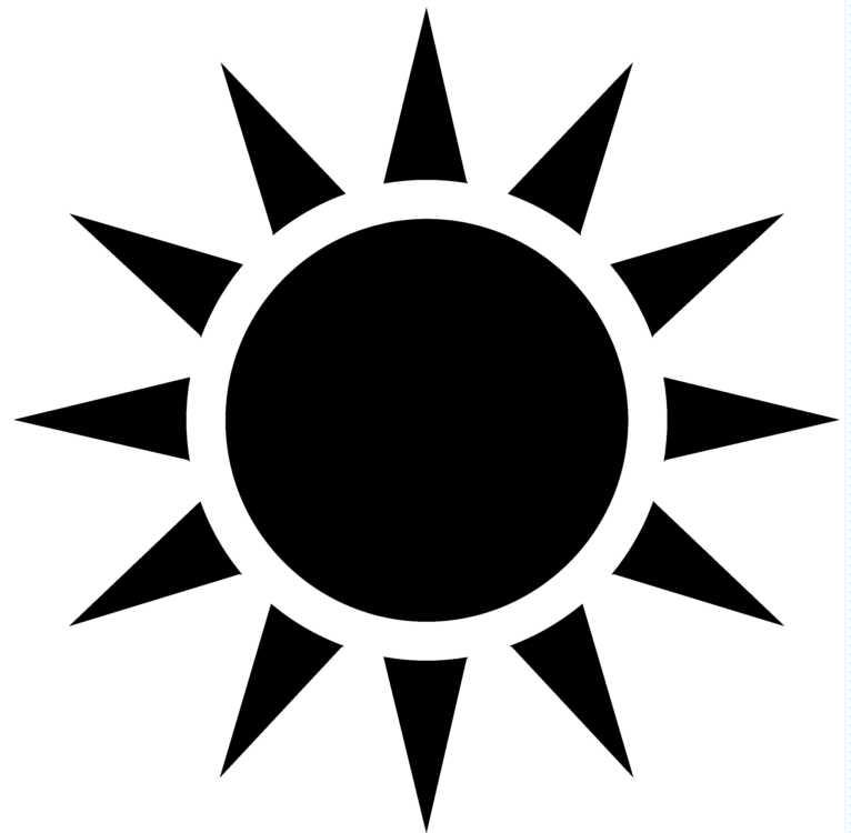 15 Sun Clip Art Black And White Design Images