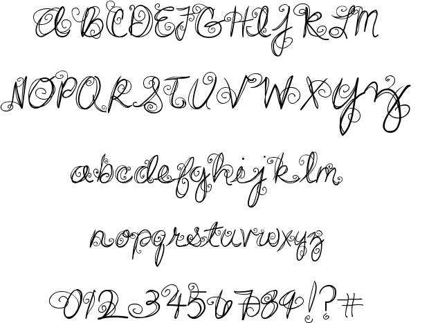 11 Free Swirly Fonts Images