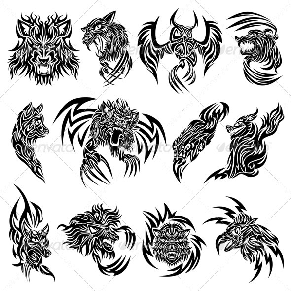 Tribal Animal Tattoo Designs