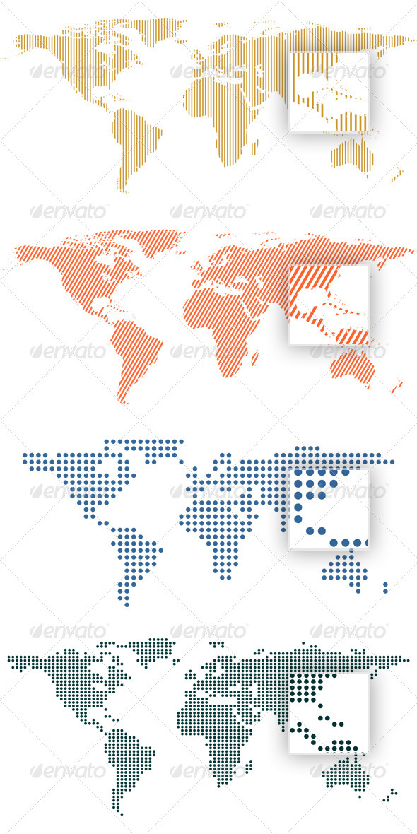 Vector Dot World Map