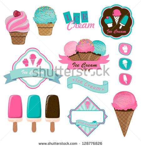 Vector Ice Cream Labels