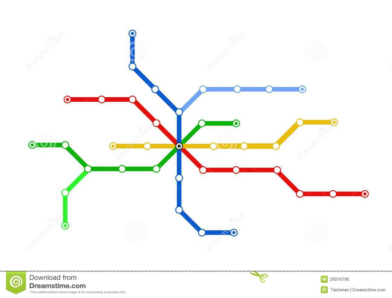 Vector Subway Map