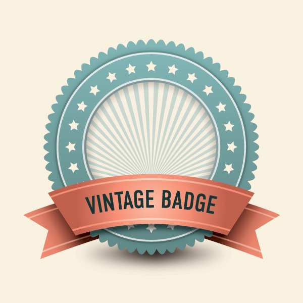 Vintage Badge Vector Free Download