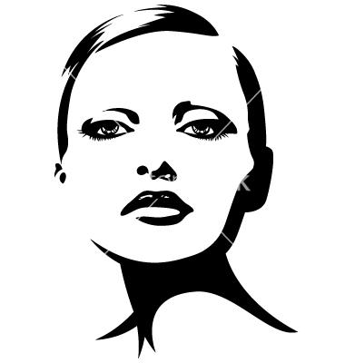 Вектор девушки лицо