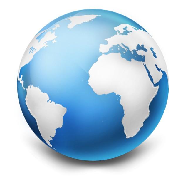 14 White Globe PSD Images