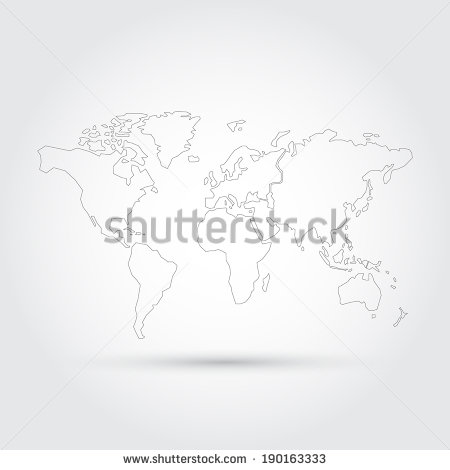 World Map Vector Line