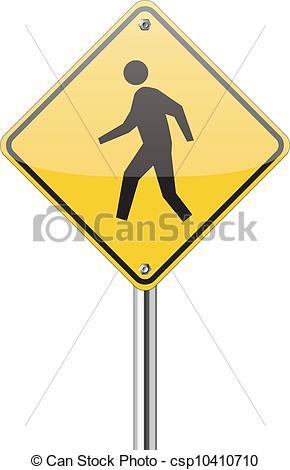 Yellow Man Walking Clip Art