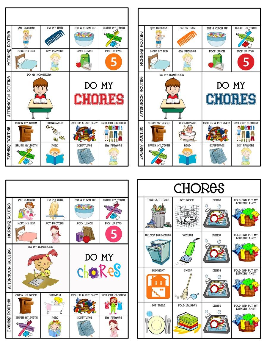 5 Year Old Chore Chart Printable