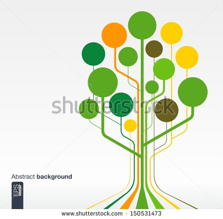 Abstract Business Growth Tree