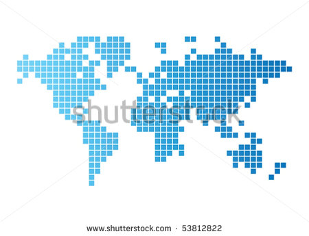 9 Computer Graphic World Map Images