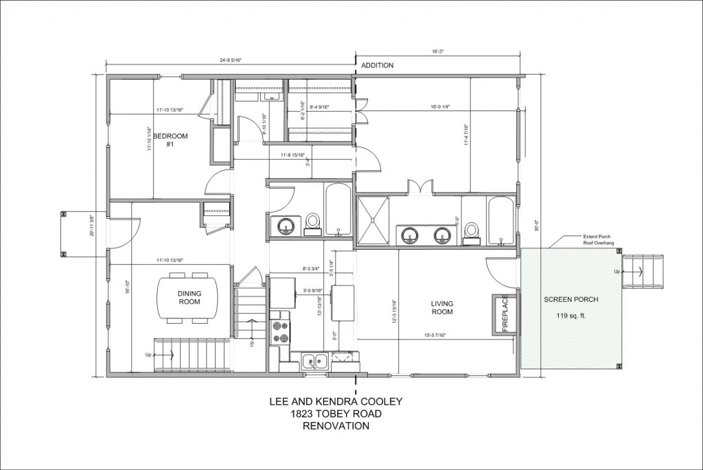 Home plan drawing for Architectural home plans