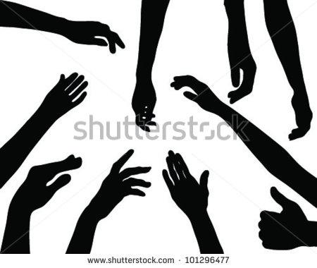 Reaching arm silhouette