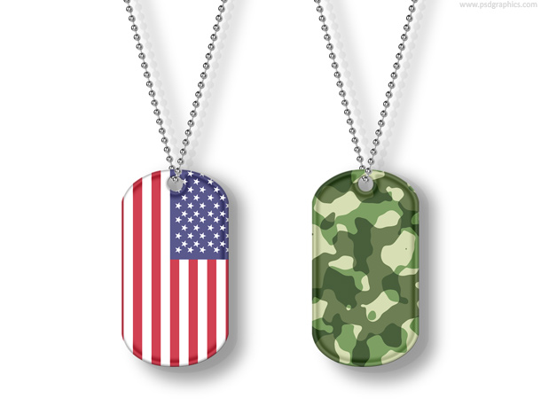 8 Dog Tags PSD Images
