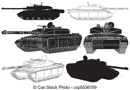 Army Tank Clip Art Vector