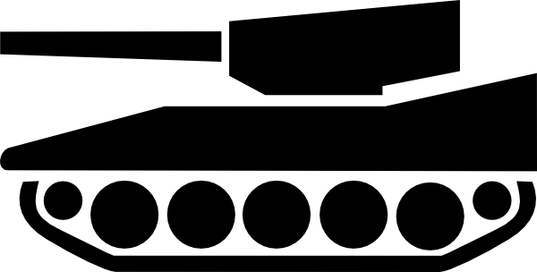 Army Tank Silhouette Clip Art