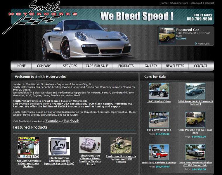 Auto Repair Shop Website Design