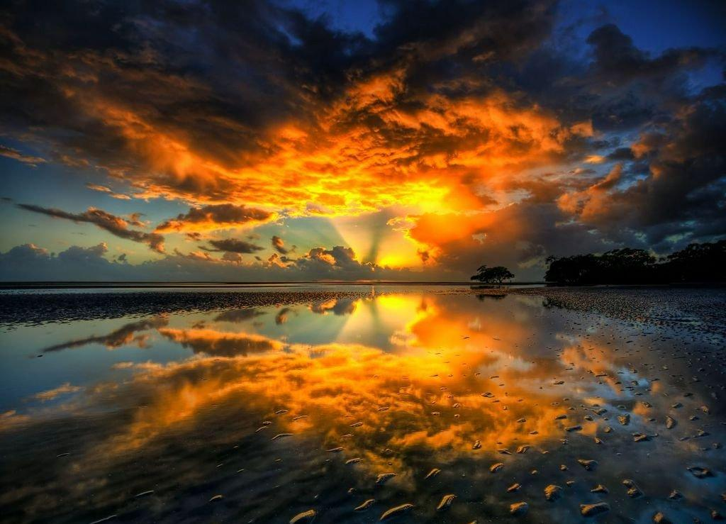 Beautiful Reflection Sunset