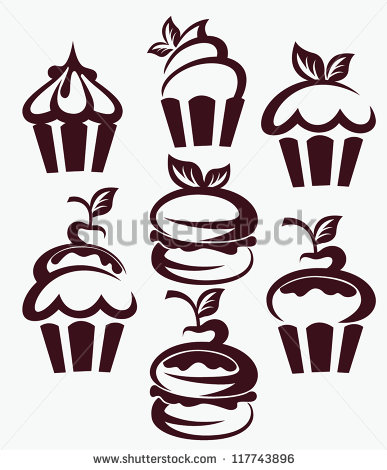 Birthday Cupcake Silhouette Vector