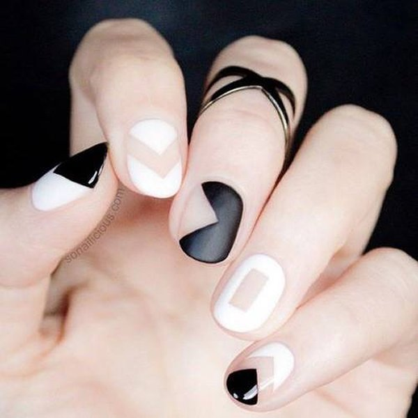 Black Nail Polish Designs for 2015