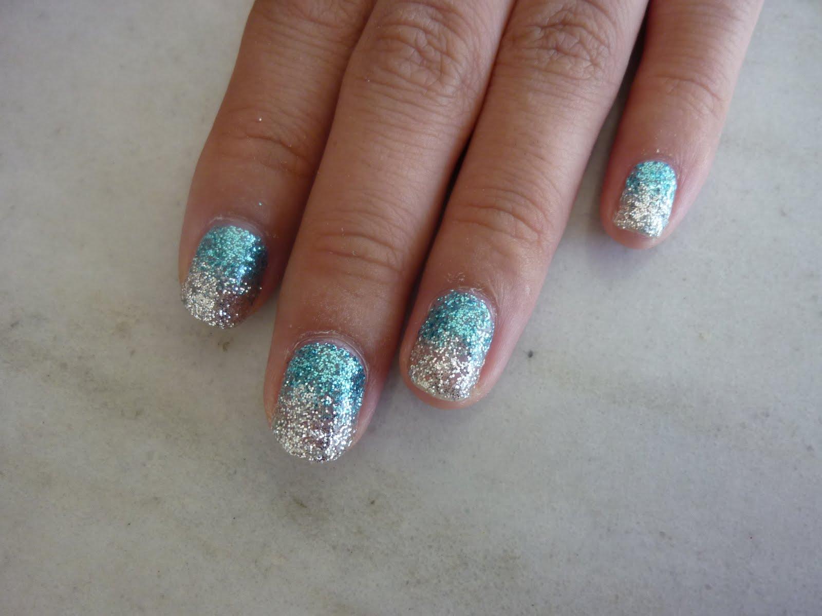 13 Silver Glitter Nail Designs Images - Cute Glitter ...