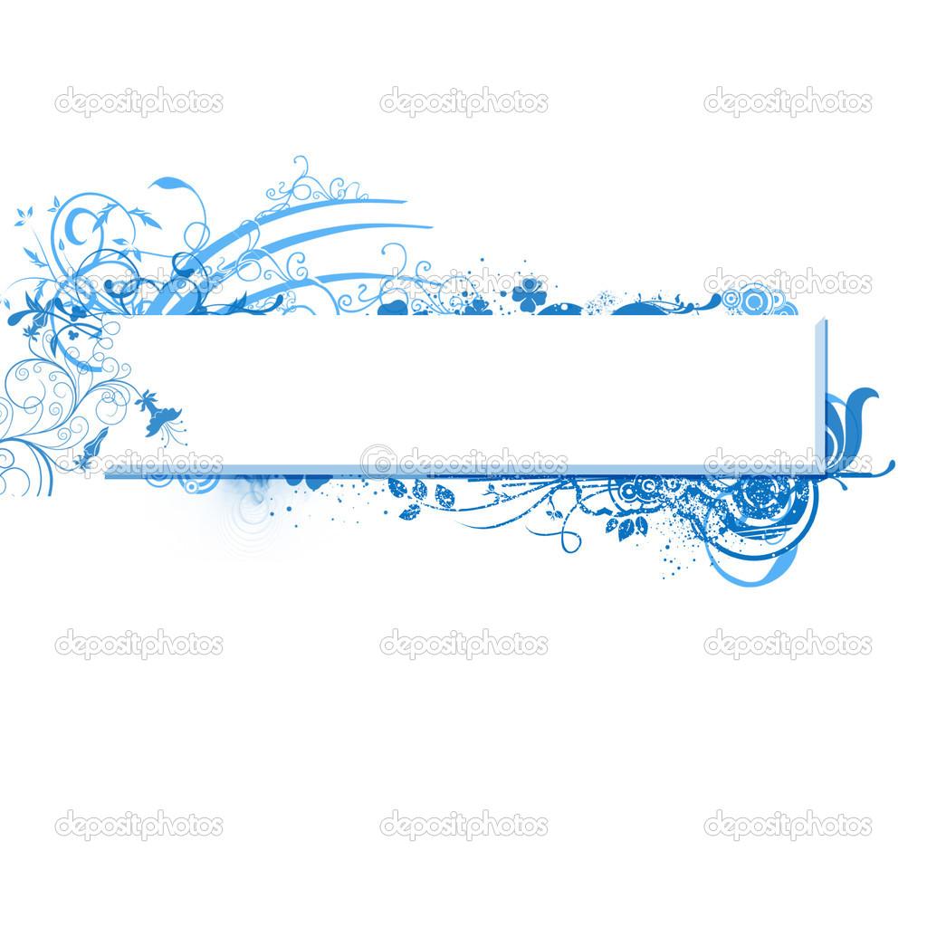 Blue Banner Clip Art