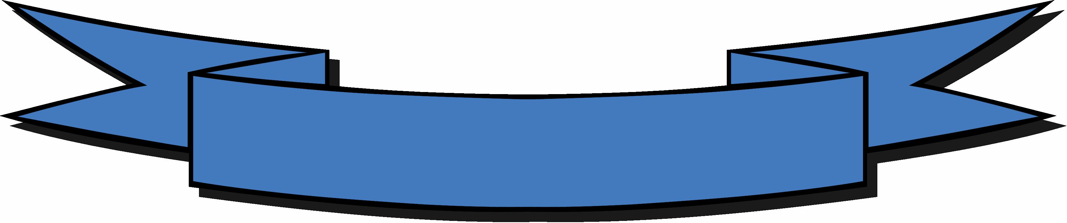 Blue Ribbon Banner Clip Art