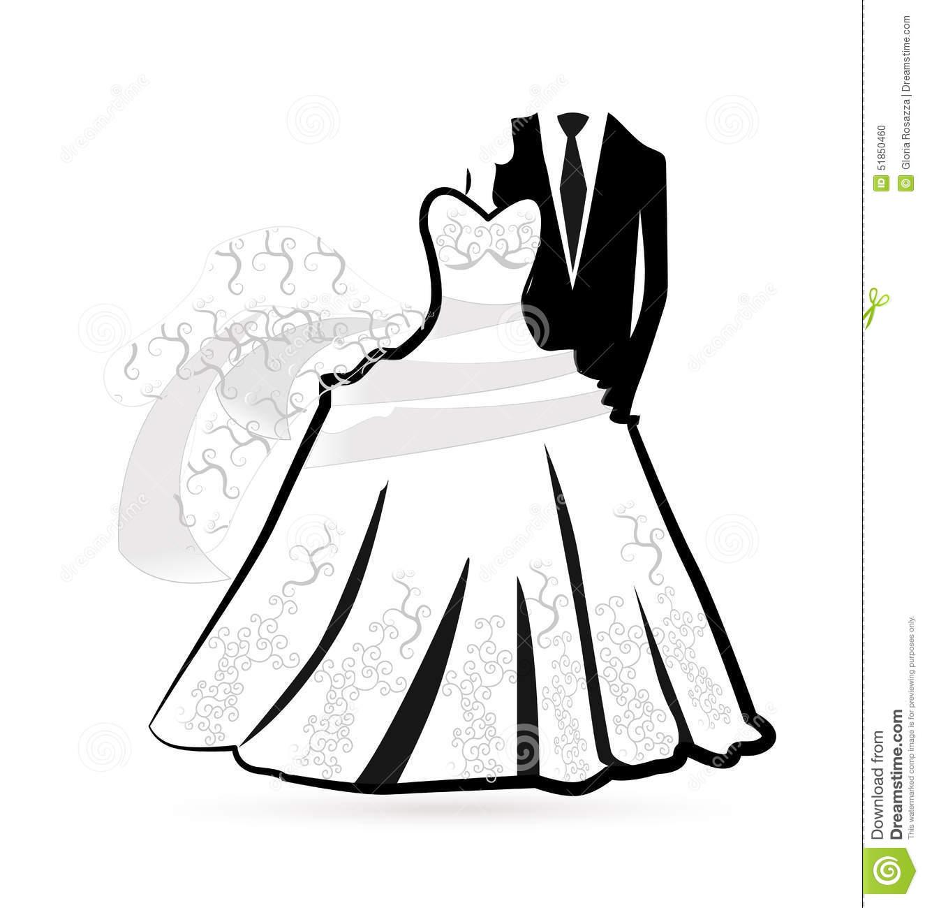 Bride and Groom Wedding Dress