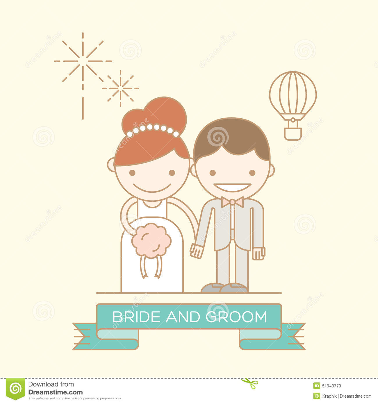 Bride Groom Cartoon