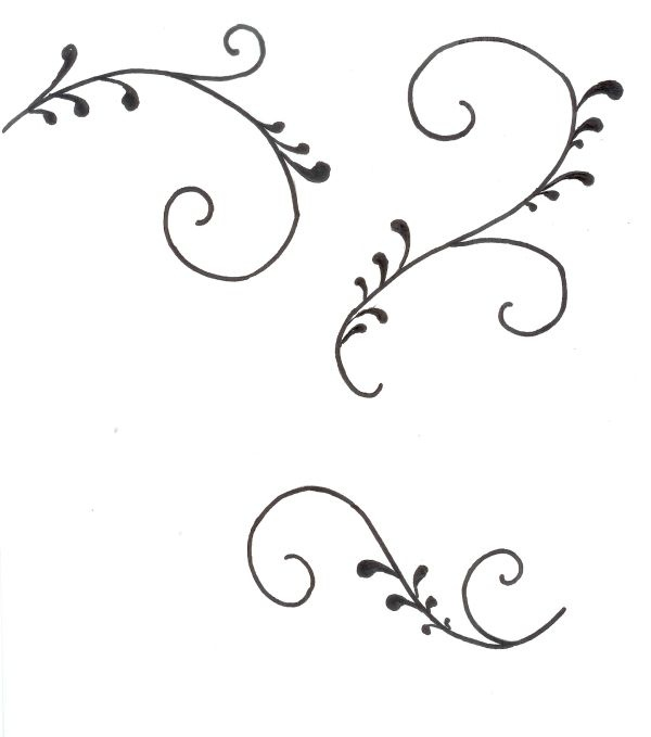 Cake Decorating Scroll Templates
