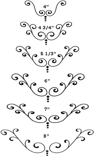 Printable Scroll Patterns For Cakes