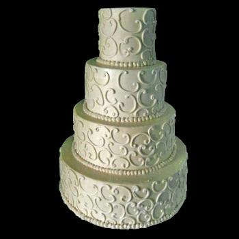 Cakes with Scroll Designs