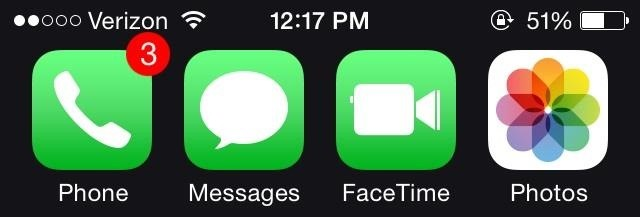 Call iPhone Message Icon