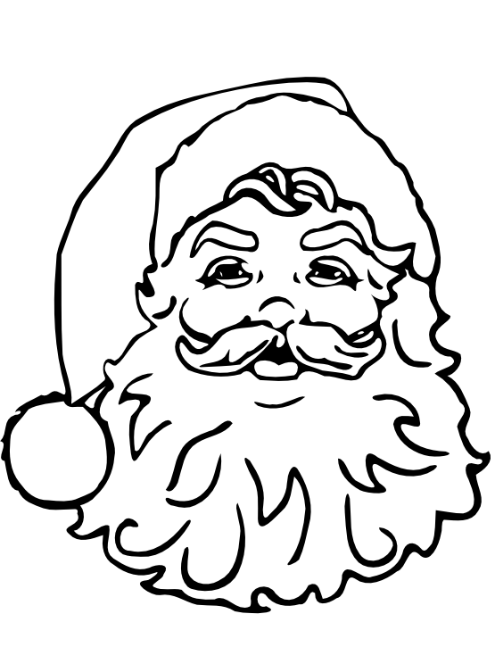 Christmas Santa Clip Art Black and White
