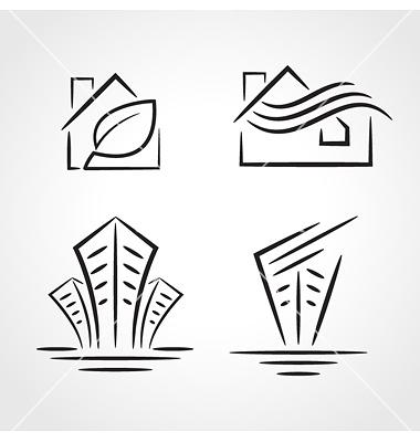 Clip Art for Buildings Symbols