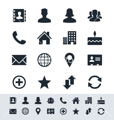 14 Contact Icons Vector Images