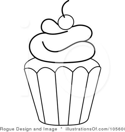 Cupcake Outline Clip Art
