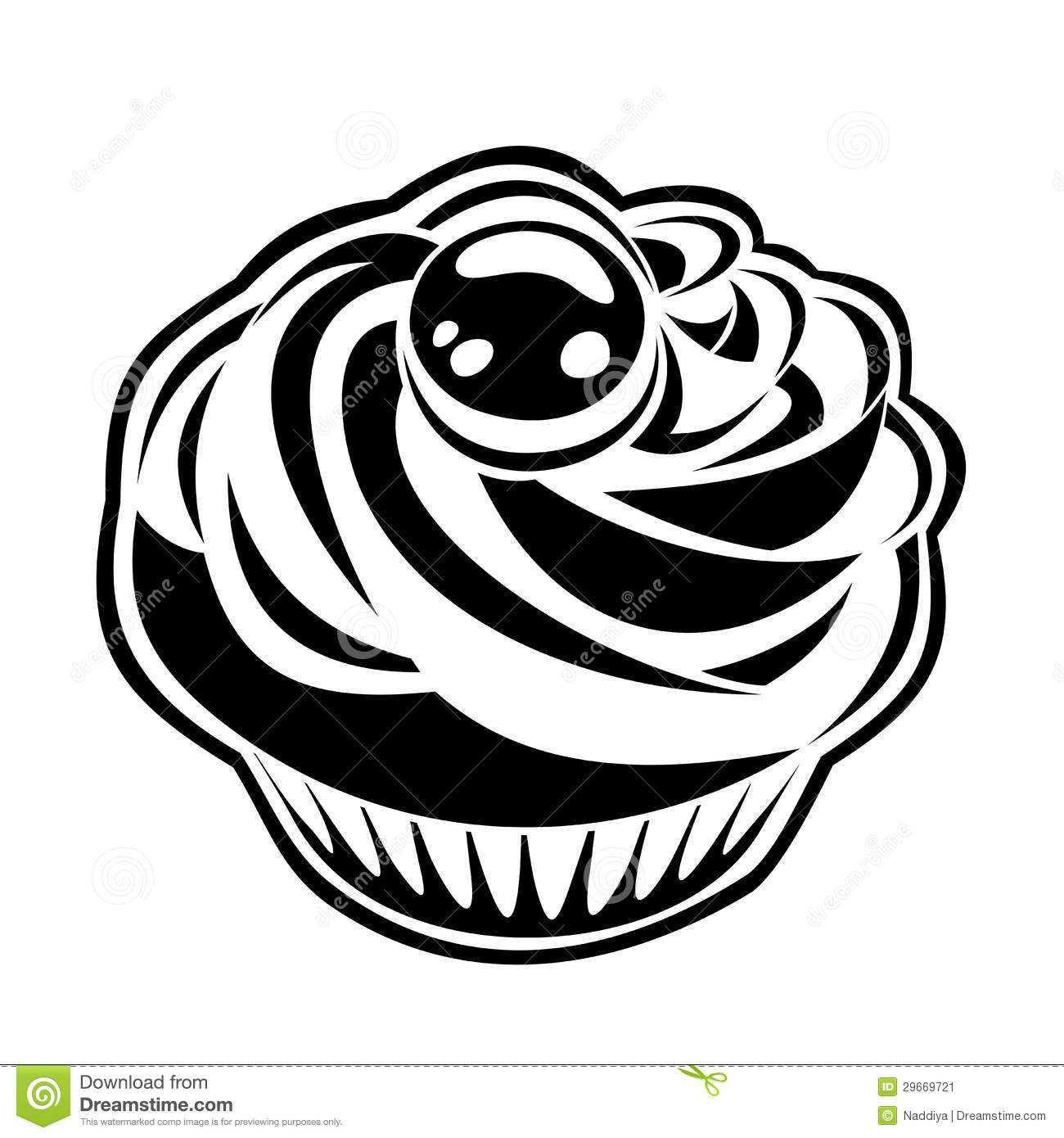 Cupcake Silhouette Vector