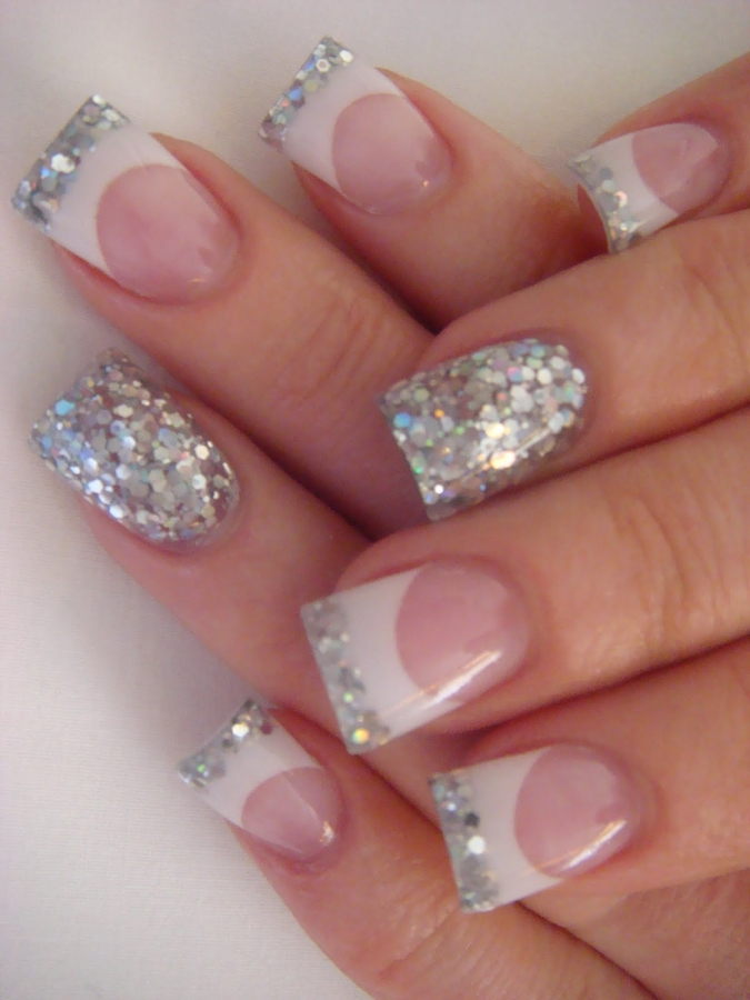 14 Glitter Nail Tip Designs Images French Tip Nails Tumblr Gold