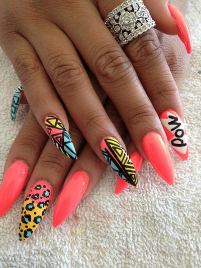 Cute Pointy Nail Designs