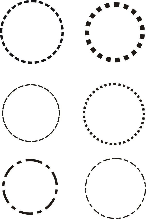 8 Dotted Circle Vector Images