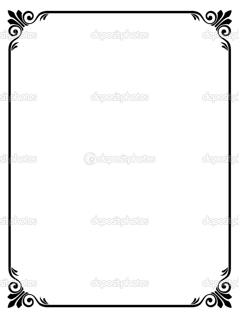 Simple Flower Black And White Clip Art