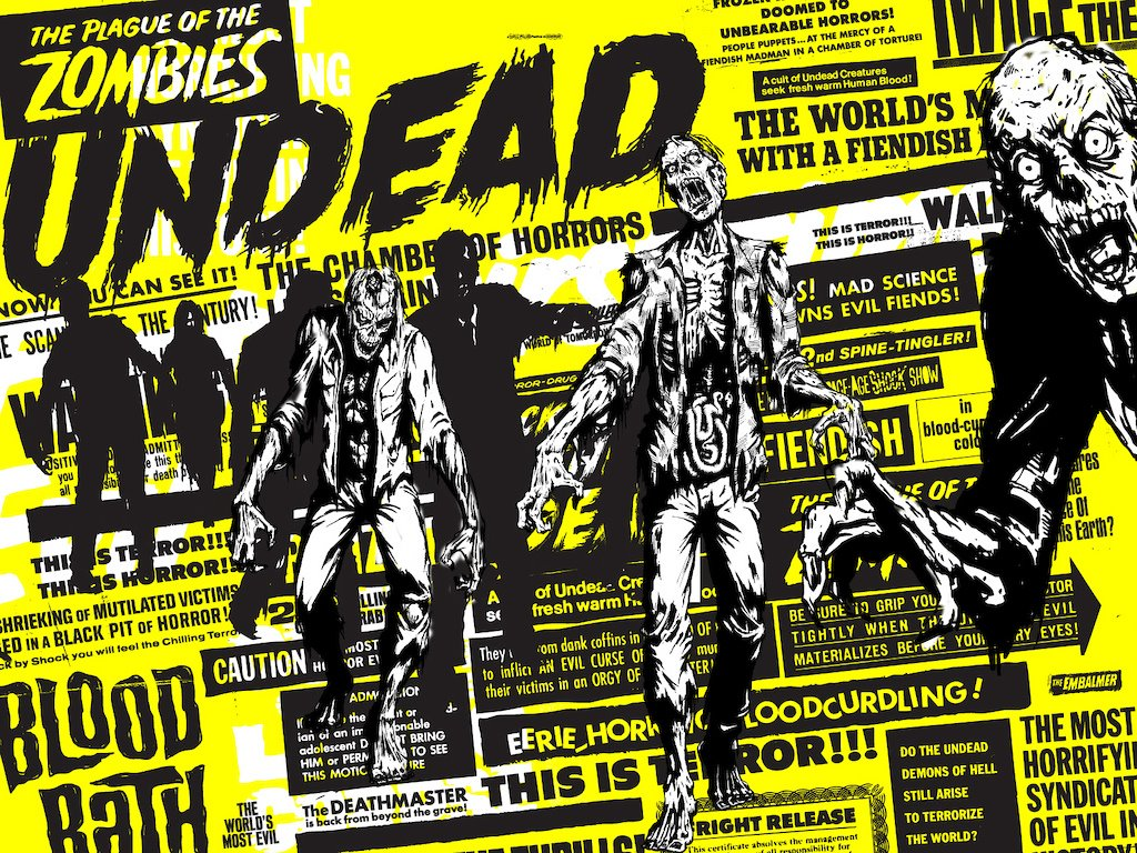 11 Zombie Word Font Images