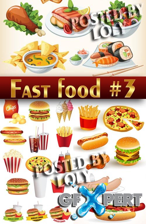 Fast Food Vector Free Download