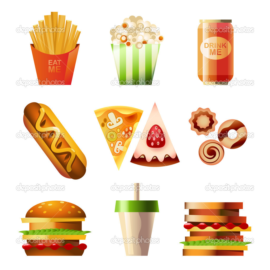 Fast Food Vector Stock