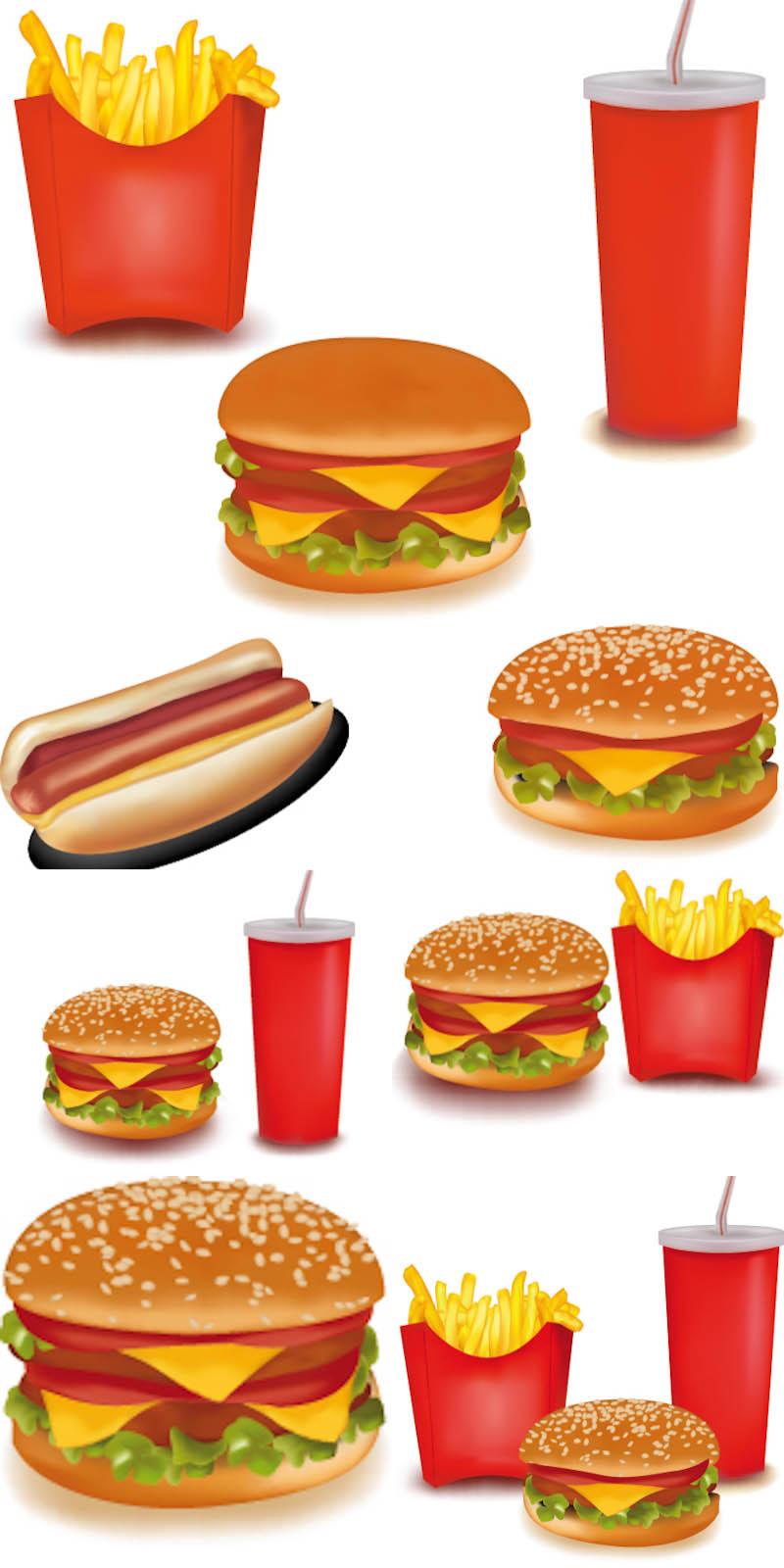 Fast Food Vectors Free
