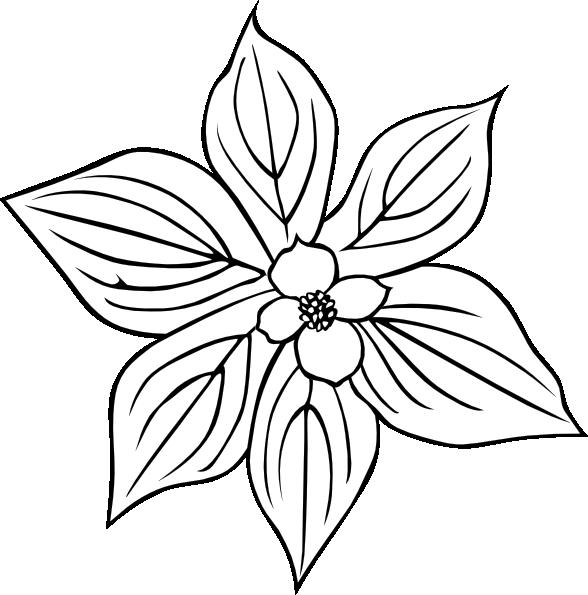 Flower Outline Clip Art