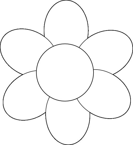 Flower Petal Outline Clip Art