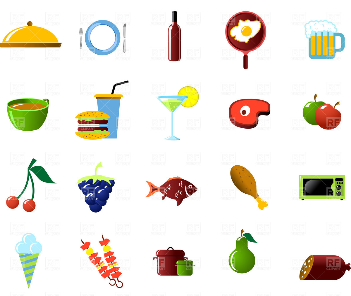 Food Clip ArtIcons