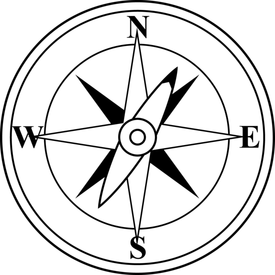 5 Compass Icon Black And White Images